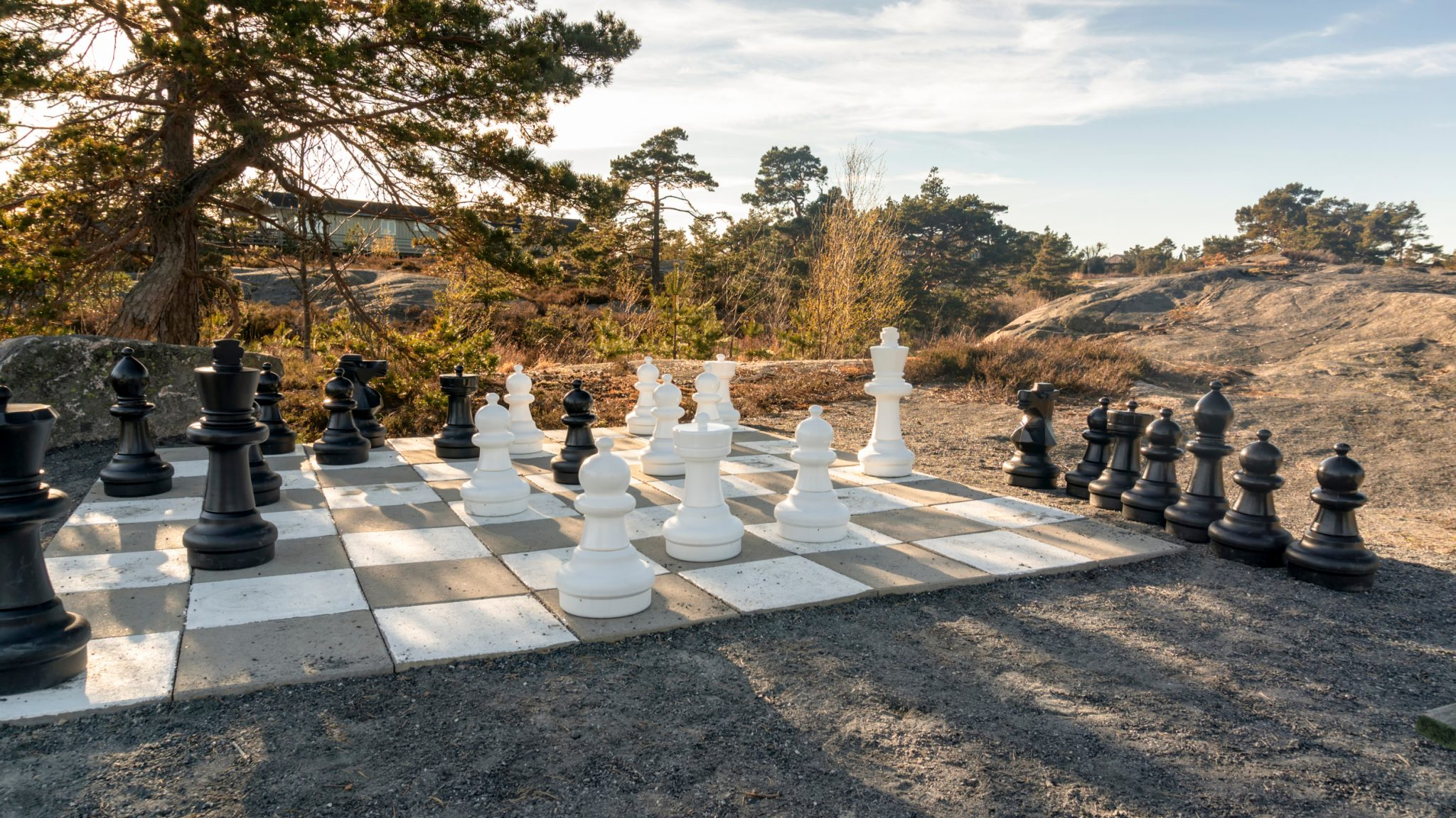 hardscape ideas chessboard