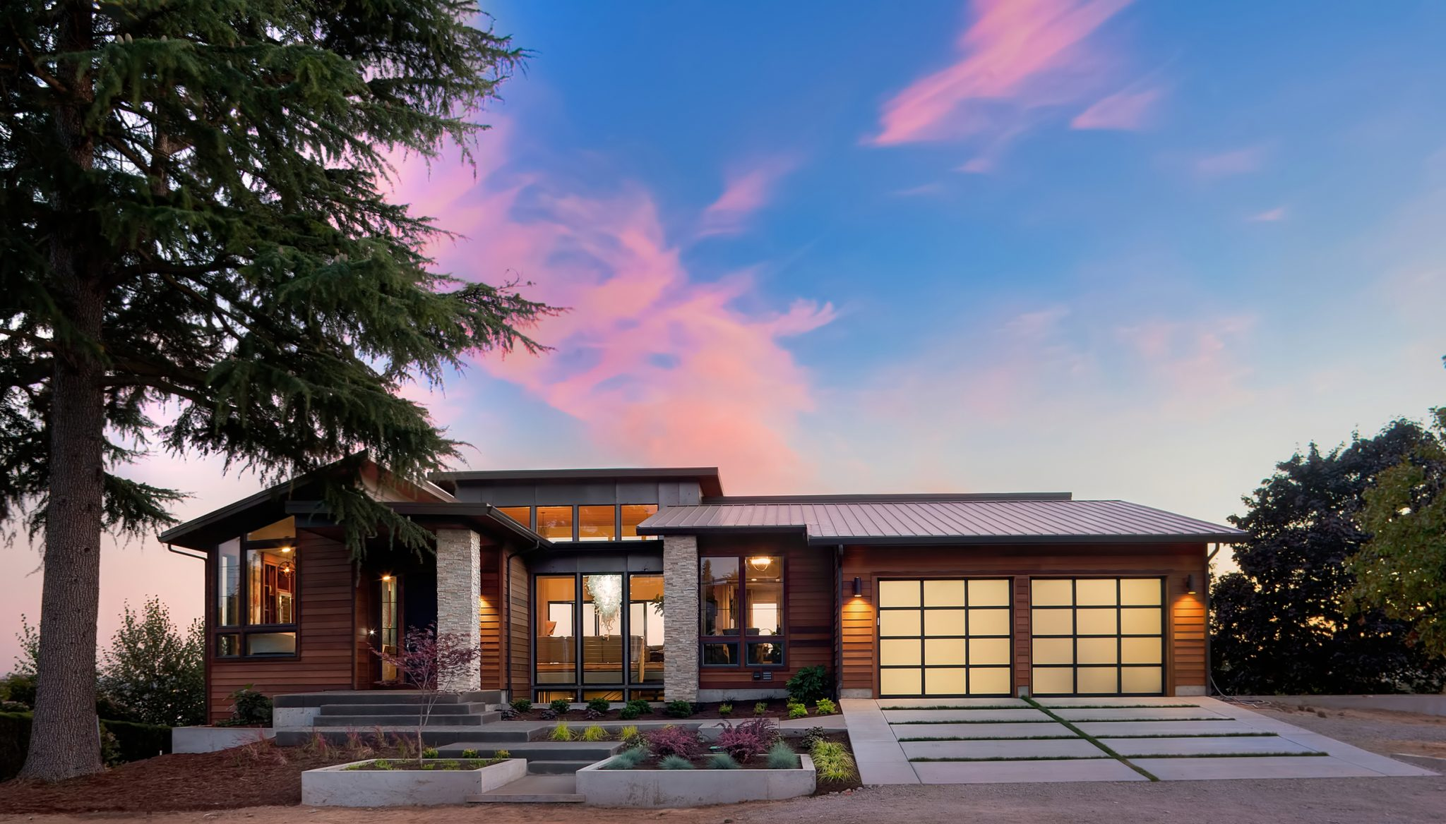 Driveway Designs for Modern Home Turf & Pavers