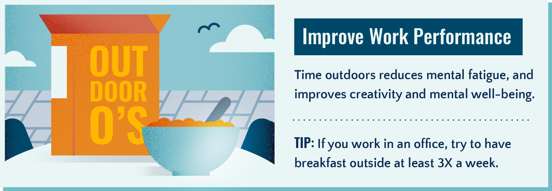 Improve Work Performance by spending time outside