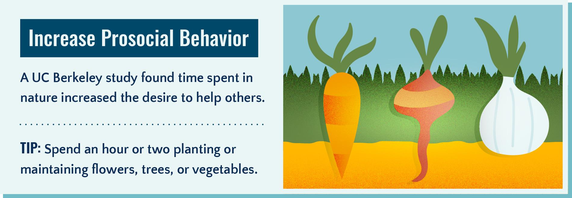 Spending time outdoors increases prosocial behavior