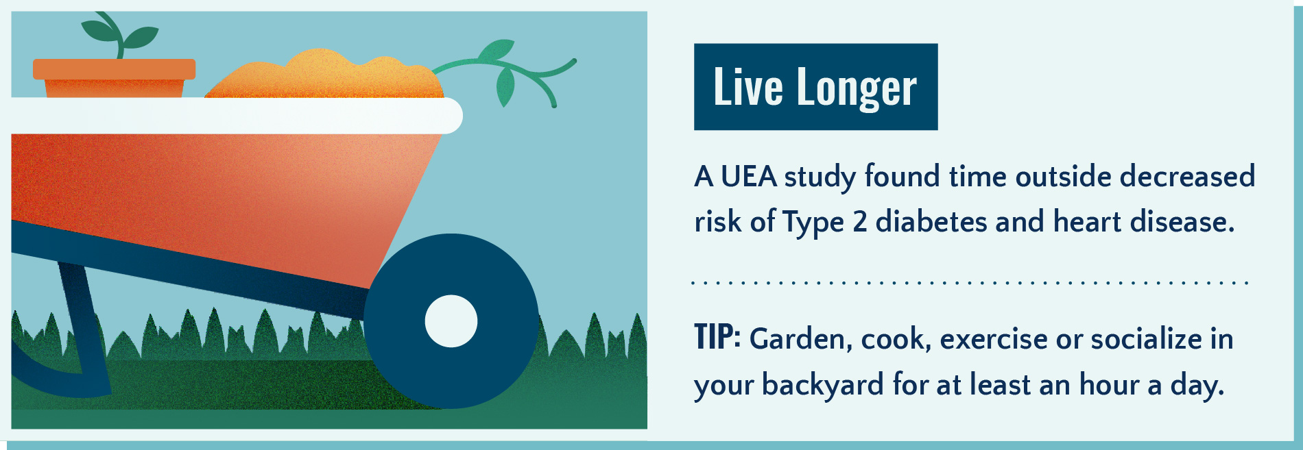 Spending time outside can help you live longer.
