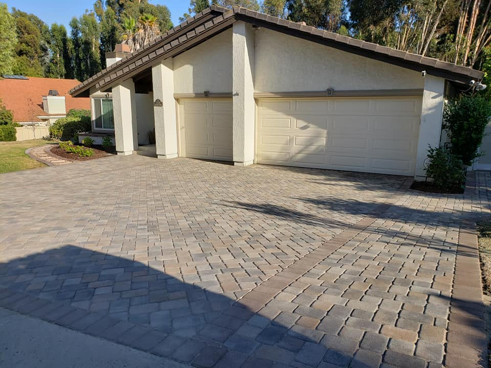 paver driveway installation by Install-It-Direct