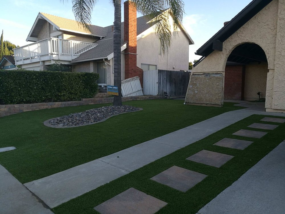Artificial turf installation in San Diego, California by Install-It-Direct