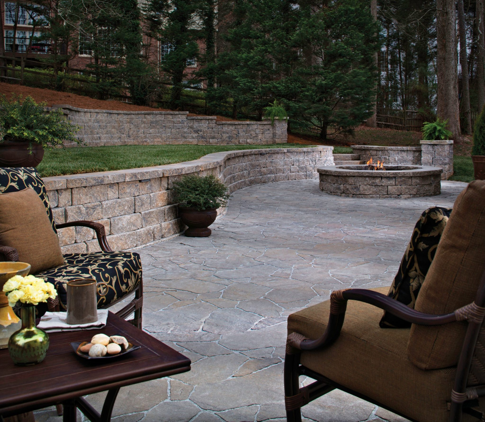 retaining wall ideas backyard