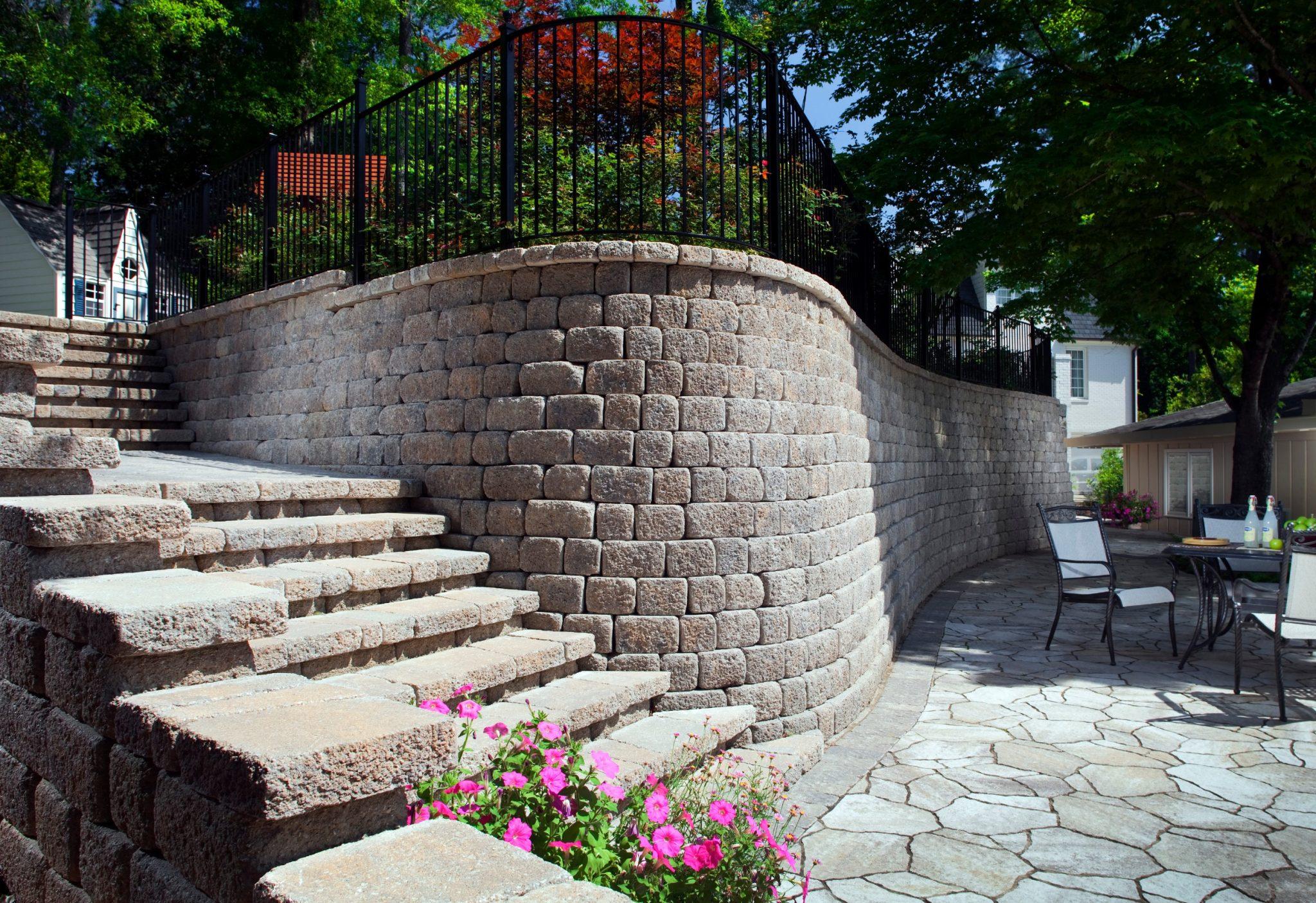 retaining wall ideas backyard
