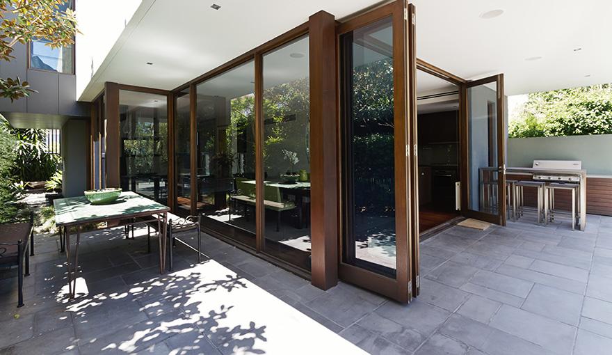 modern paved patio