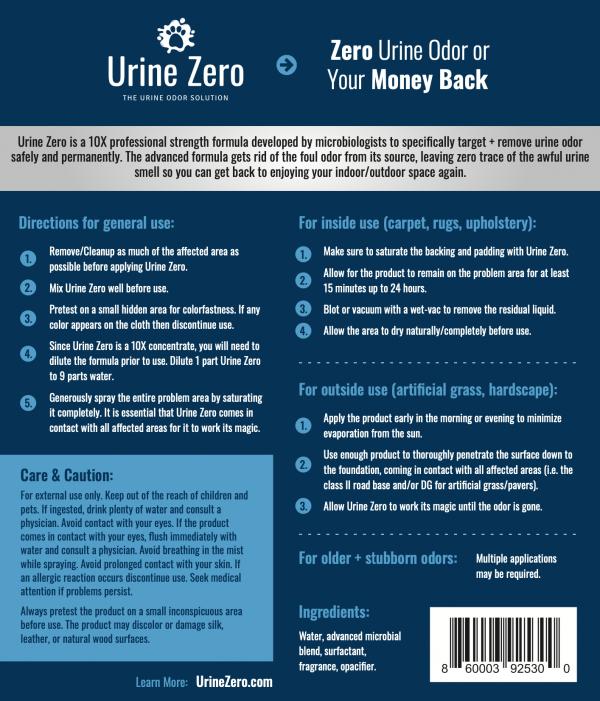 Urine Zero Odor Eliminator