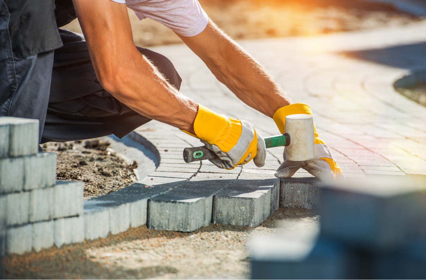 How to Install Pavers on a Slope