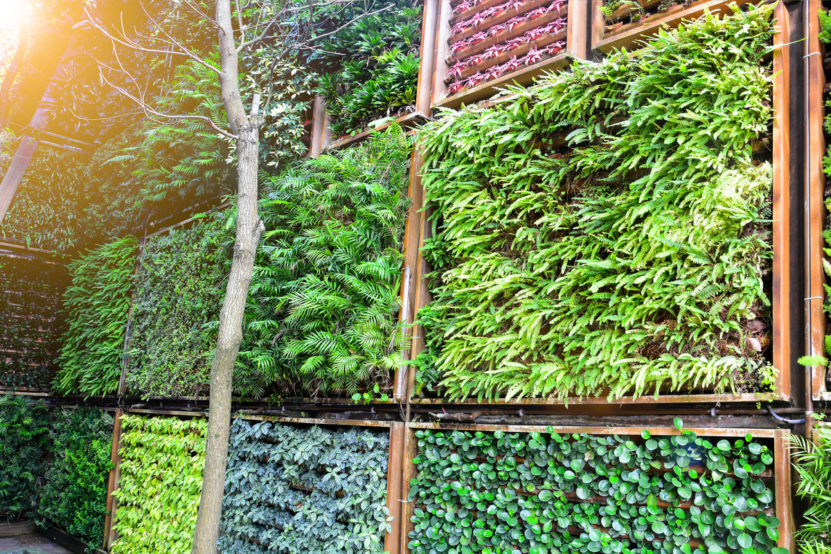 Vertical Planters with Irrigation